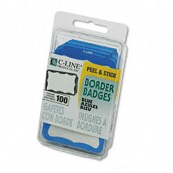 Self-Adhesive Name Badges 2 x 3-12 Blue 100Box (CLI92265)