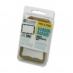 Self-Adhesive Name Badges 2 x 3-12 Gold 100Box (CLI92266)