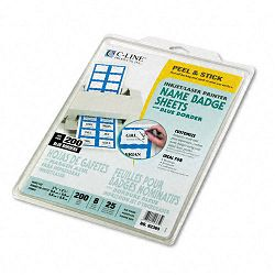 Self-Adhesive InkjetLaser Printer Name Badges 2-13 x 3-38 Blue 200Box (CLI92365)