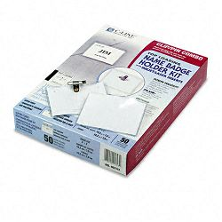Badge Holder Kits Top Load 3 x 4 White 50Box (CLI95743)