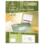 Recycled Name Badge Labels 3-38 x 2-13 White 400Box (MACRL7000)