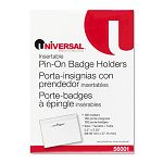 Clear Badge Holders with Inserts Top Load 2-14 x 3-12 White 100Box (UNV56001)