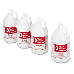 Water-Soluble Deodorant Lemon Scent 1 Gallon Bottles Carton of 4 (BGD1618)