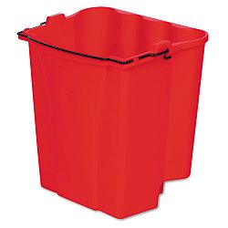 Dirty Water Bucket for Wavebrake BucketWringer 18-Quart Red (RCP9C74RED)