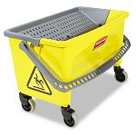 Press Wring Bucket for Microfiber Flat Mops Yellow (RCPQ90088YW)