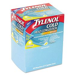 Cold Severe Caplets Box of 50 Two-Packs (MCL26150)