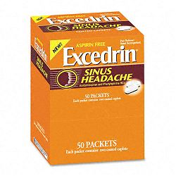 Sinus Headache Caplets Box of 50 Two-Packs (PFYBXXS50)
