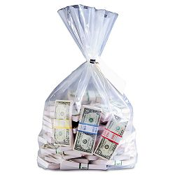 "Currency Deposit Bags 12"" x 20"" Clear Box of 100 (MMF206410520)"