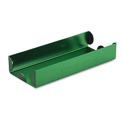 Rolled Coin Aluminum Tray with Denomination & Quantity Etched on Side Green (MMF211011002)