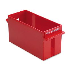Porta-Count System Extra-Capacity Rolled Coin Plastic Storage Tray Red (MMF212070107)