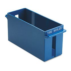 Porta-Count System Extra-Capacity Rolled Coin Plastic Storage Tray Blue (MMF212070508)