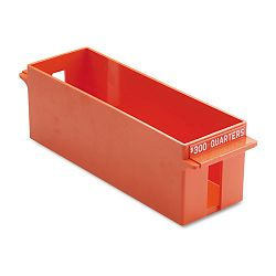 Porta-Count System Extra-Capacity Rolled Coin Plastic Storage Tray Orange (MMF212072516)