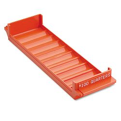 Porta-Count System Rolled Coin Plastic Storage Tray Orange (MMF212082516)