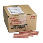 Pop-Open Flat Paper Coin Wrappers Pennies $.50 Box of 1000 (MMF216020007)