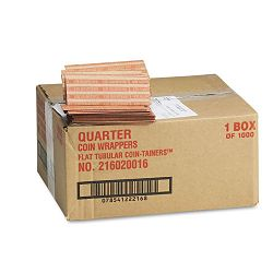 Pop-Open Flat Paper Coin Wrappers Quarters $10 Box of 1000 (MMF216020016)