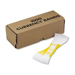 Self-Adhesive Currency Straps Yellow $1000 in $10 Bills Box of 1000 (MMF216070G12)