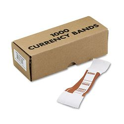 Self-Adhesive Currency Straps Brown $5000 in $50 Bills Box of 1000 (MMF216070I09)