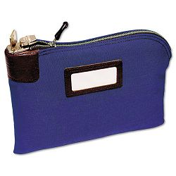 "Seven-Pin SecurityNight Deposit Bag Two KeysCotton Duck 11"" x 8.5"" Blue (MMF2330881W08)"