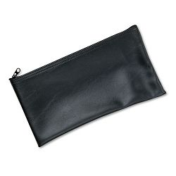 "Leatherette Zippered Wallet Leather-Like Vinyl 11""w x 6""h Black (MMF2340416W04)"