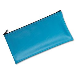 "Leatherette Zippered Wallet Leather-Like Vinyl 11""w x 6""h Marine Blue (MMF2340416W38)"
