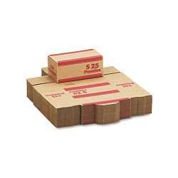 Corrugated Cardboard Coin Transport Box Lock Red Carton of 50 Boxes (MMF240140107)