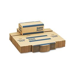 Corrugated Cardboard Coin Transport Box Lock Blue Carton of 50 Boxes (MMF240140508)