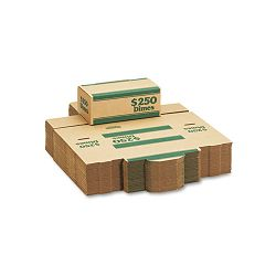 Corrugated Cardboard Coin Transport Box Lock Green Carton of 50 Boxes (MMF240141002)