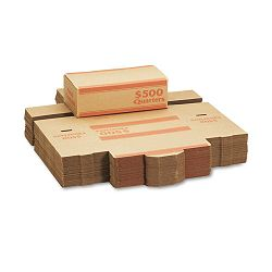 Corrugated Cardboard Coin Transport Box Lock Orange Carton of 50 Boxes (MMF240142516)
