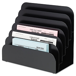 Cashier Pad Rack Steel 6 Pocket Black (MMF267060604)