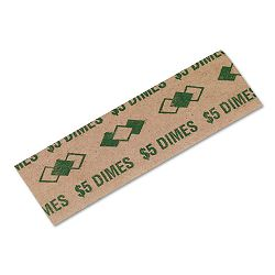Tubular Coin Wrappers Dimes $5 Pop-Open Wrappers Pack of 1000 (PMC53010)
