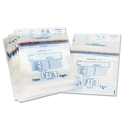 Clear Disposable Plastic Coin Tote 50 lb Capacity 6.5 mil 13 x 22 Box of 100 (PMC58013)