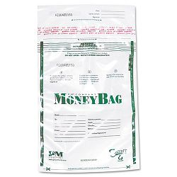 Biodegradable Plastic Money Bags Tamper Evident 9 x 12 Clear Pack of 50 (PMC58019)