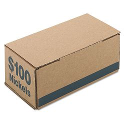 Corrugated Cardboard Coin Storage with Denomination Printed On Side Blue (PMC61005)