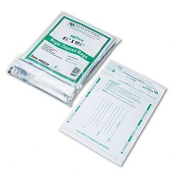 Poly Night Deposit Bags with Tear-Off Receipt 8.5 x 10-12 Opaque Pack of 100 Bags (QUA45224)