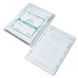 Poly Night Deposit Bags with Tear-Off Receipt 10 x 13 Opaque Pack of 100 Bags (QUA45228)