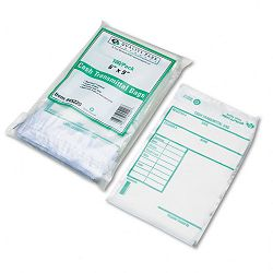 Cash Transmittal Bags with Printed Info Block 6 x 9 Clear Pack of 100 Bags (QUA45220)