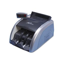 "Electric Bill Counter with Counterfeit Detection 1000 Bills per Minute 13""Wx9.5""Dx7.9""H Black & Silver (RSIRBC2100)"