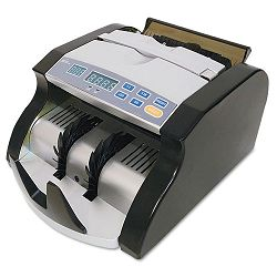 "Portable Electric Bill Counter 1000 Bills per Minute 9""W x 11""D x 6""H Black & Silver (RSIRBC600)"
