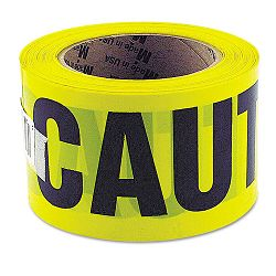 "Caution Safety Tape Non-Adhesive 3"" x 1000' (GNS10379)"