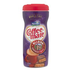 World Café Belgian Chocolate Toffee Powdered Creamer 16 oz Bottle (NES25732)