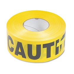 "Caution Barricade Safety Tape Yellow 3""w x 1000 ft. Roll (TCO10700)"