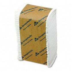 TidyNap Low Fold Dispenser Napkins 9 x 12 White 250Pack (GEP39201)