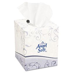 Angel Soft ps Premium Facial Tissue in Cube Box 96Box 36 BoxesCarton (GEP46580CT)