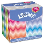 KLEENEX Facial Tissue Pocket Packs 3-Ply White 10 SheetsPack 8 Packs (KIM11974)