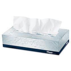 KLEENEX White Facial Tissue 2-Ply POP-UP Box 125 Sheets 48Carton (KIM21606CT)
