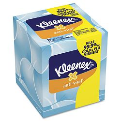 KLEENEX BOUTIQUE Anti-Viral Facial Tissue 3-Ply POP-UP Box 75Box (KIM28075BX)