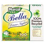 100% Premium Recycled Bella SnapPac Dinner Napkins 15 x 17 White 3000Carton (MRC2121)