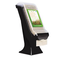 "Stand Napkin Dispenser 8""w x 5.4""d x 19.5""h Black (SCA32XPS)"