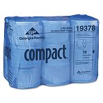 Compact Coreless Bath Tissue 1500 Sheets per Roll Carton of 18 Rolls (GEP19378)