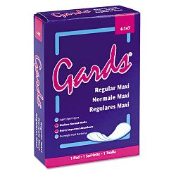 Gards Maxi Pads #4 Carton of 250 Individually Boxed Napkins (HOS4147)